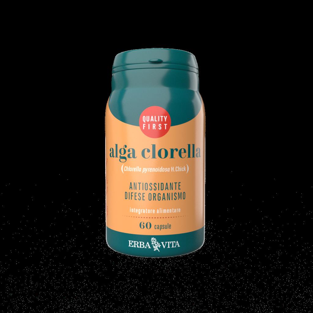 integratore a base di alga clorella ad azione antiossidante