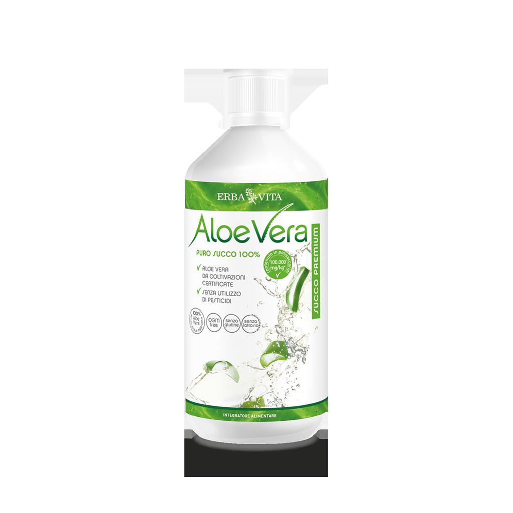Integratore alimentare a base di succo di aloe vera puro al 100%