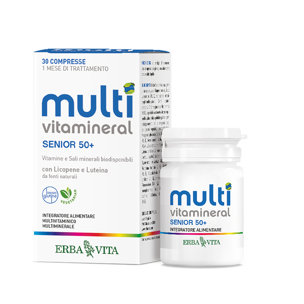Integratore a base di vitamine e mirelani arricchito con Licopene e Luteina